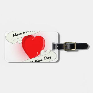 Mothers Day Heart Bag Tag