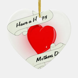 Mothers Day Heart Ceramic Heart Decoration