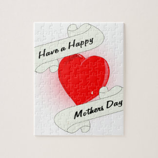 Mothers Day Heart Jigsaw Puzzle