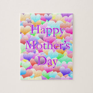 Mother's Day Hearts Light Jigsaw Puzzle