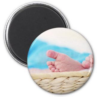 Mother's Day Hearts mom heart love feet newborn 2 Inch Round Magnet