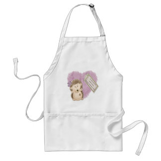 Mothers Day Hedgehog - Standard Apron