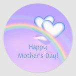 Mothers Day High Hearts Round Stickers