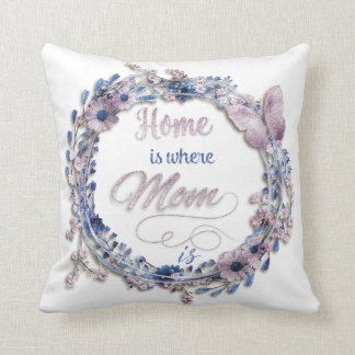 "Mother's Day - ""Home Is Where Mom Is"" Cushion"