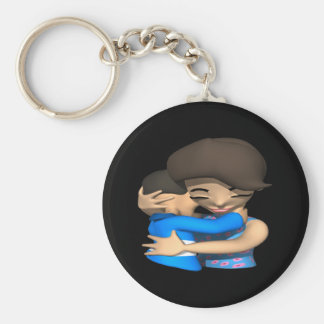 Mothers Day Hug Basic Round Button Key Ring