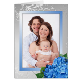 Mother's Day Hydrangea Photo Card For Grandma