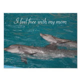 mothers day I feel free with my mom Poster
