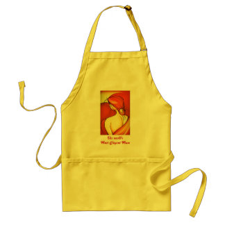 Mother's Day Lady In Orange apron