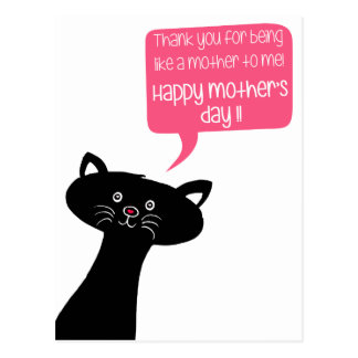 Mother's Day - Like a mother - Black Cat Postcard