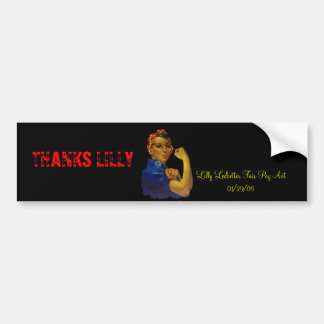 MOTHER'S DAY LILLY LEDBETTER BUMPER STICKERS