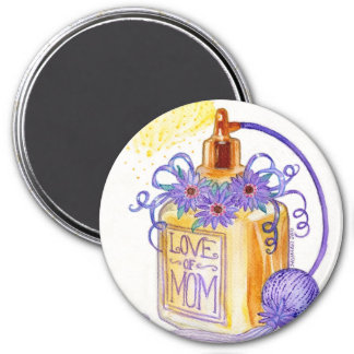 Mother's Day Love of Mom Perfume Bottle 7.5 Cm Round Magnet