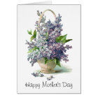 Mother's Day: Lovely Purple Lilac Basket Card