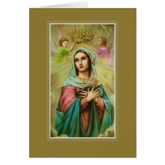 Mother's Day Madonna Virgin Mary Angels Greeting Card
