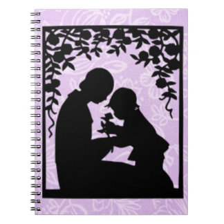 Mothers Day Mom and Child Silhouette Notebooks