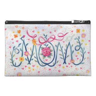 """Mother's Day """"Mom""""  Painted in Vine and Flowers Travel Accessory Bag"""