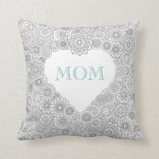 "Mother's Day ""MOM"" Pillow (Black & White)"