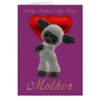 Mother's Day, Mothering Sunday Cute Sheep Greeting Card
