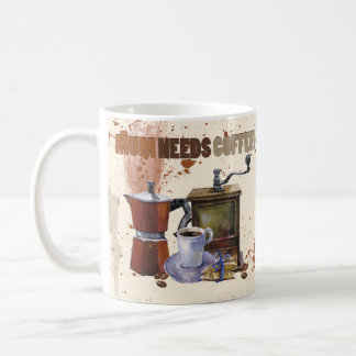 Mother's day mug, mum needs coffee basic white mug