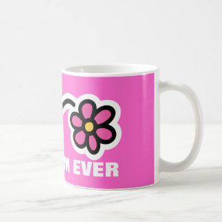 Mother's day Mug with pink daisy flower   Best mom