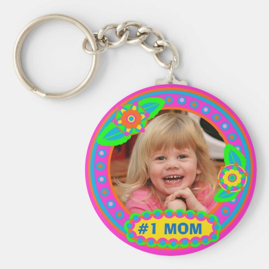 Mother's Day / Mum Custom Photo & Text Keychain