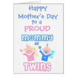 Mother's Day Mum of Twins greeting Card