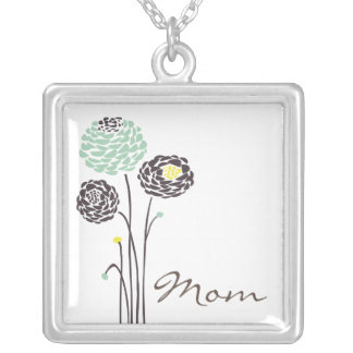 Mother's Day Necklace Mom Trendy Flowers