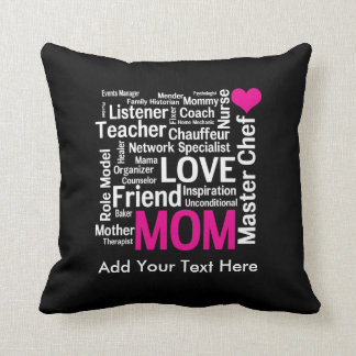 Mother's Day or Birthday for a Wonderful Mom Cushion