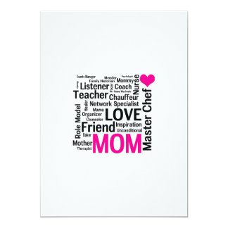 """Mother's Day or Birthday for a Wonderful Mom 5"""" X 7"""" Invitation Card"""