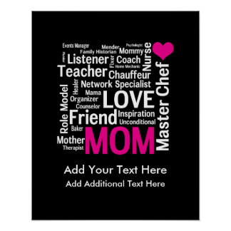 Mother's Day or Birthday for a Wonderful Mom Posters