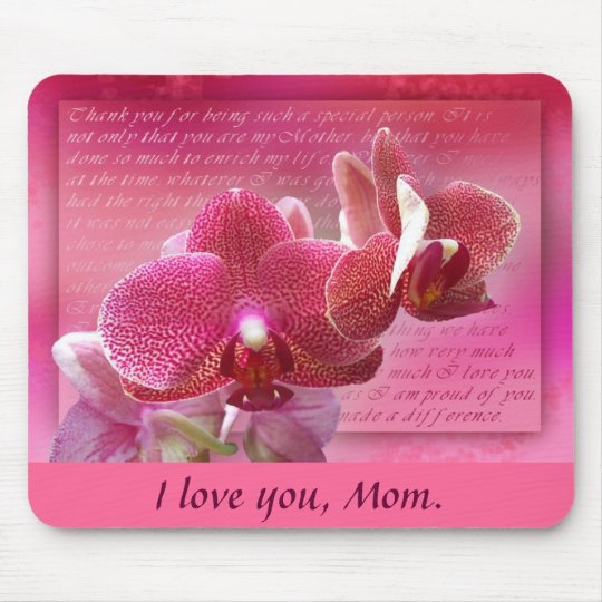 Mother's Day Orchids Mouse Pad
