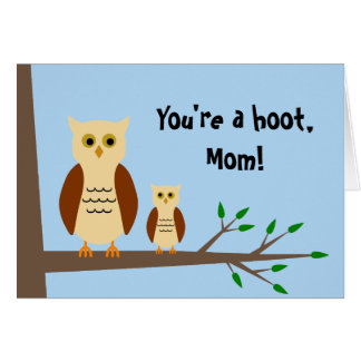 Mother's Day Owl Greeting Card