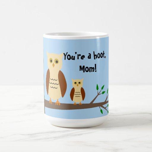 Mother's Day Owl White Mug