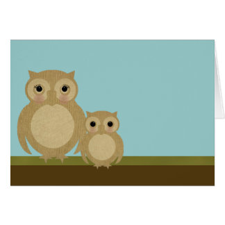 Mother's Day Owls Greeting Card