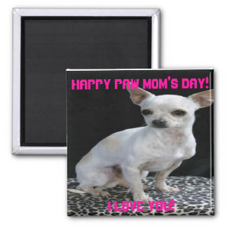 Mother's Day Paw Mom Chilhuaha Magnet