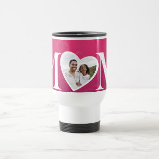 Mothers Day Photo O Heart MOM Mug