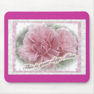 Mother's Day Pink Climbing Rose Blossoms Mouse Pad