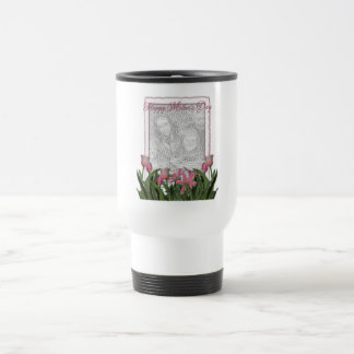 Mothers Day - Pink Tulips - Add Your Own Photo Travel Mug
