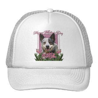 Mothers Day - Pink Tulips - Australian Cattle Dog Trucker Hat