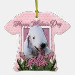 Mothers Day - Pink Tulips - Bedlington Terrier