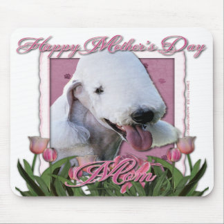 Mothers Day - Pink Tulips - Bedlington Terrier Mouse Pads