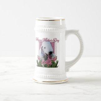 Mothers Day - Pink Tulips - Bedlington Terrier Mug