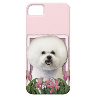 Mothers Day - Pink Tulips - Bichon Frise Case For The iPhone 5