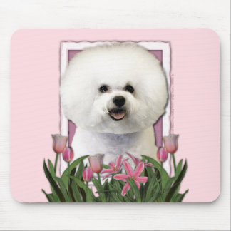 Mothers Day - Pink Tulips - Bichon Frise Mouse Mat