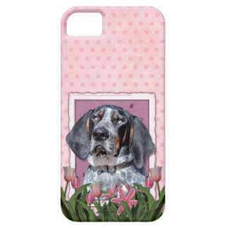 Mothers Day - Pink Tulips - Bluetick Coonhound iPhone 5 Covers