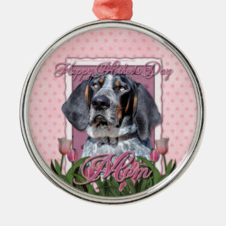 Mothers Day - Pink Tulips - Bluetick Coonhound Christmas Tree Ornaments