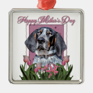 Mothers Day - Pink Tulips - Bluetick Coonhound Ornaments