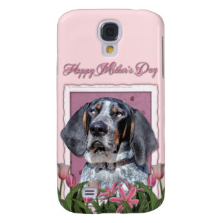 Mothers Day - Pink Tulips - Bluetick Coonhound Galaxy S4 Case