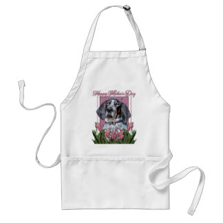 Mothers Day - Pink Tulips - Bluetick Coonhound Standard Apron