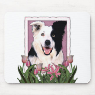 Mothers Day - Pink Tulips - Border Collie Mouse Mat
