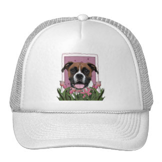 Mothers Day - Pink Tulips - Boxer - Vindy Trucker Hat